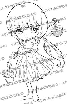 Selo Digital Toadstool Lamp Fada Pixie, Natureza coletor da borboleta, Digi selo Kawaii, Anime, Fantasy Girl, imagem gráfica, Instant download