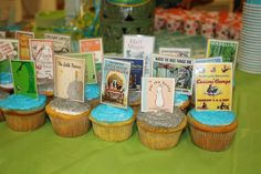 """Book Themed Baby Shower Menu 