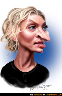 Caricatura de Uma Thurman.  ~ Ʀεƥɪииεð вƴ╭•⊰✿ © Ʀσxʌиʌ Ƭʌиʌ ✿⊱•╮