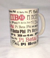 How cute is this mug? Great for your room or office! Available now for $10.00 at Pi Phi Express!