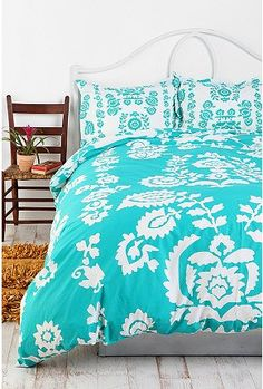 UrbanOutfitters.com > Paper Flower Duvet Cover $79 COLLEGE