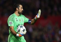 Gianluigi Buffon of Juventus looks on during the UEFA Champions League match between Sevilla FC and Juventus at Estadio Ramon Sanchez Pizjuan on November 22, 2016 in Seville, .