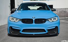 Yas Marina Blue BMW M3 With M Performance Goodies & Volk Wheels - http://www.bmwblog.com/2017/03/05/yas-marina-blue-bmw-m3-with-m-performance-goodies-volk-wheels/