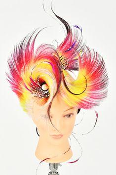 2016 Hair Stenciling, High Fashion Hair, Competition Hair, Avant Garde Hair, Hair Designs, Makeup Art, Wigs, Hair Color, Hair Beauty