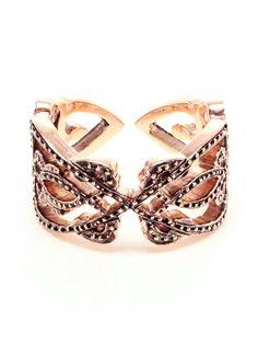 Sabine G 'love' 18k Rose Gold And Diamond Ring - $4,591.06