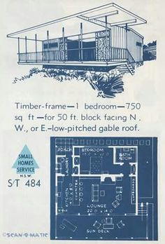Small Homes Service Plan S/T 484 : 1 Bedroom - 750 sq ft