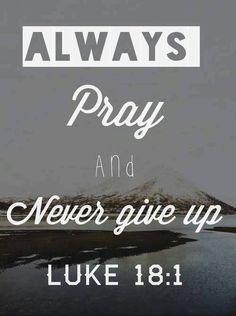 Prayer is powerful.