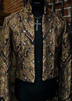 BAVARIA JACKET - STEAMPUNK CARVIVAL BROCADE by Shrine Clothing Goth Steampunk Mens Jackets
