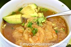 Sopa de Patacon (Fried Green Plantain Soup)