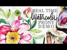 How to Paint a Watercolor Peony - YouTube