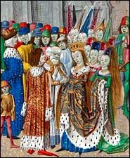 Marriage of Edward II and Isabella of France~not one of the happier marriages in history.