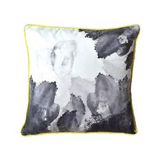 Ink Cushion with Yellow Piping