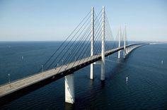 Ponte Oresund: collega la Danimarca e la Svezia, tra Copenhagen e Malmo