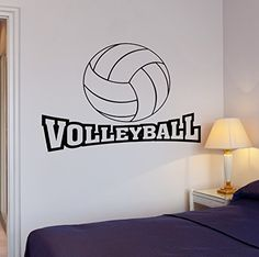 wall stickers vinyl decal volleyball ball sport decor for living room z1644i wallsticker4you http - Volleyball Bedroom Decor