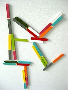 Popsicle stick magnets - so cool!