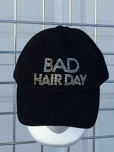 Bad Hair Day Bling Baseball Cap