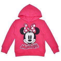 Disney Minnie Mouse Girls Pullover Hoodie Sweatshirt - Pink - Walmart.com