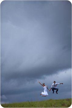when a threatening sky...