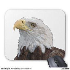 Bald Eagle Portrait Mouse Pad
