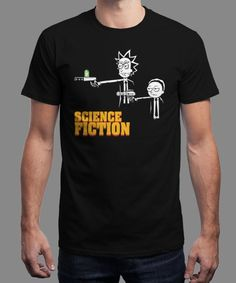 """Science Fiction"" is today's £9/€11/$12 tee for 24 hours only on www.Qwertee.com Pin this for a chance to win a FREE TEE this weekend. Follow us on pinterest.com/qwertee for a second! Thanks:)"