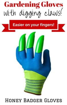 Honey Badger gardening gloves come with claws on the left hand, right hand, or both hands.  Claws protect your fingernails and joints when digging in the garden and don't wear through like other gloves.