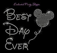 Disney Rhinestone Transfer Best Day Ever Rhinestone Iron On With Mickey Balloon Rhinestone Art, Rhinestone Transfers, Mickey Balloons, Cute Cartoon Characters, Diy Art Projects, Mickey Minnie Mouse, Background Pictures, Best Day Ever, Disney Wallpaper