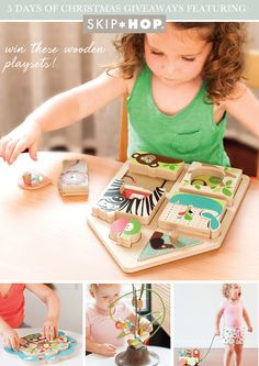 @Skiphop Wooden Playset Giveaway on @LaylaGrayce blog! #laylagrayce #giveaway #skiphop