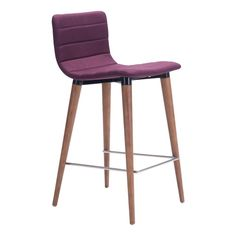 ZUO Jericho Metal Counter Chair in Purple (2-Pack)-100273 - The Home Depot