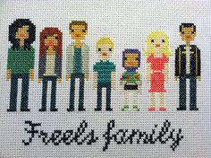 Family Portrait Custom Cross Stitch by PennedinString on Etsy