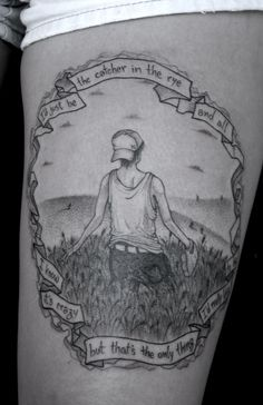 Why do I teach great literature? To prevent students from getting idiotic tattoos like this... The Catcher in the Rye.