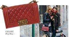 Chanel Red Boy Bag