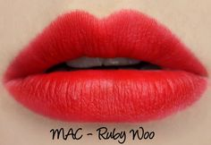 MAC The Matte Lip 2015 - Ruby Woo Lipstick Swatches & Review