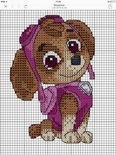 Cross Stitch For Kids, Cross Stitch Cards, Beaded Cross Stitch, Cross Stitch Patterns, Crochet Christmas Decorations, Kid Character, Plastic Canvas Patterns, Paw Patrol, Pixel Art