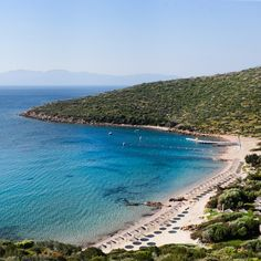 The stunning private beach at Kempinski Barbaros Bay in Turkey