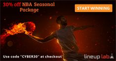 30% off the rest of #NBA #DFS Seasonal Package. (including #NBAPlayoffs) This is a #Holiday #sale, good for a limited time only.   #FantasyBasketball #Basketball #NBAvote #Cavs #Warriors #DailyFantasySports #Fantasy #Fanduel #Draftkings