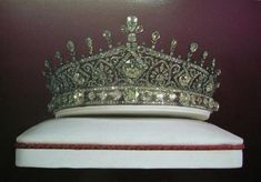One of the the at least 24 tiaras which I have counted in the crown jewel collection of Iran - There may be more. In addition, some members of the Iranian royal family had/have their own tiaras which were/are part of their own private jewel collections