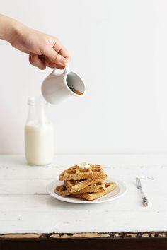 Single Lady Oat Waffles {gluten free, vegan} | Sprinkle with Salt