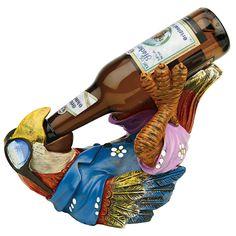 Design Toscano Beer Buddy Tiki Parrot Statue - HF308507