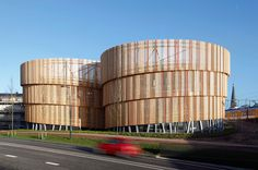 moederscheim moonen builds sculptural timber-clad parking garage in the netherlands