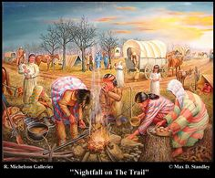 Nightfall on the Trail, by Max D. Stanley