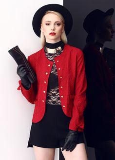 Stil Aşkı: Kırmızılı Siyahlı Ceket Markafoni'de 120,00 TL yerine 39,99 TL! Satın almak için: http://www.markafoni.com/product/5505439/ #ceket #moda #jacket #girl #fashion #red #black