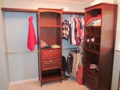 Shop Allen + Roth 8 Ft X 6.83 Ft White Wood Closet Kit At