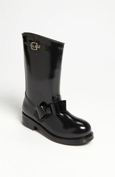Red Valentino Moto Rain Boot - I am in need of a rain/snow boot... Hunters are too small for my calves (wtf hah) this is shorter and cute - want