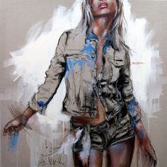 """""""Respire"""" - painting by Cecile Desserle"""