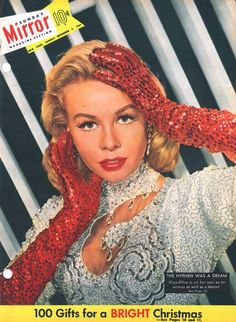 """Vera-Ellen on the cover of Sunday Mirror Magazine the year """"White Christmas"""" came out, Dec. 3, 1954."""