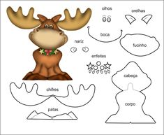Moldes de feltro para natal Moldes de Enfeites de Natal em Feltro Você pode criar lindos enfeites natalinos utilizando feltro, Confira...