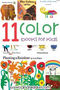 11 books about colors for kindergarten and preschool read alouds. Each book is categorized and described so that teachers and parents can find the perfect book for their kids. Learning Colors for Toddlers Preschool Colors, Teaching Colors, Parenting Books, Kids And Parenting, Peaceful Parenting, Gentle Parenting, Parenting Advice, Preschool Lessons, Preschool Activities