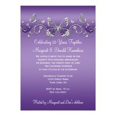 See MorePurple with Silver Butterflies 25th Anniversary Personalized InvitesWe provide you all shopping site and all informations in our go to store link. You will see low prices on