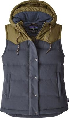 bf9ec25a5f7311 Smolder Blue/Fatigue Green Quilted Jacket, Patagonia Vest Outfit, Vest  Outfits, Down