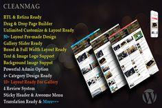 Cleanmag - Magazine WordPress Theme by Themeratio on Creative Market